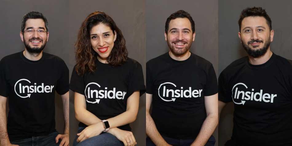 De izquierda a derecha Mehmet Sinan, Hande Cilingir, Serhar Soyuerel y Arda Koterin, Emprendedores Endeavor de Insider