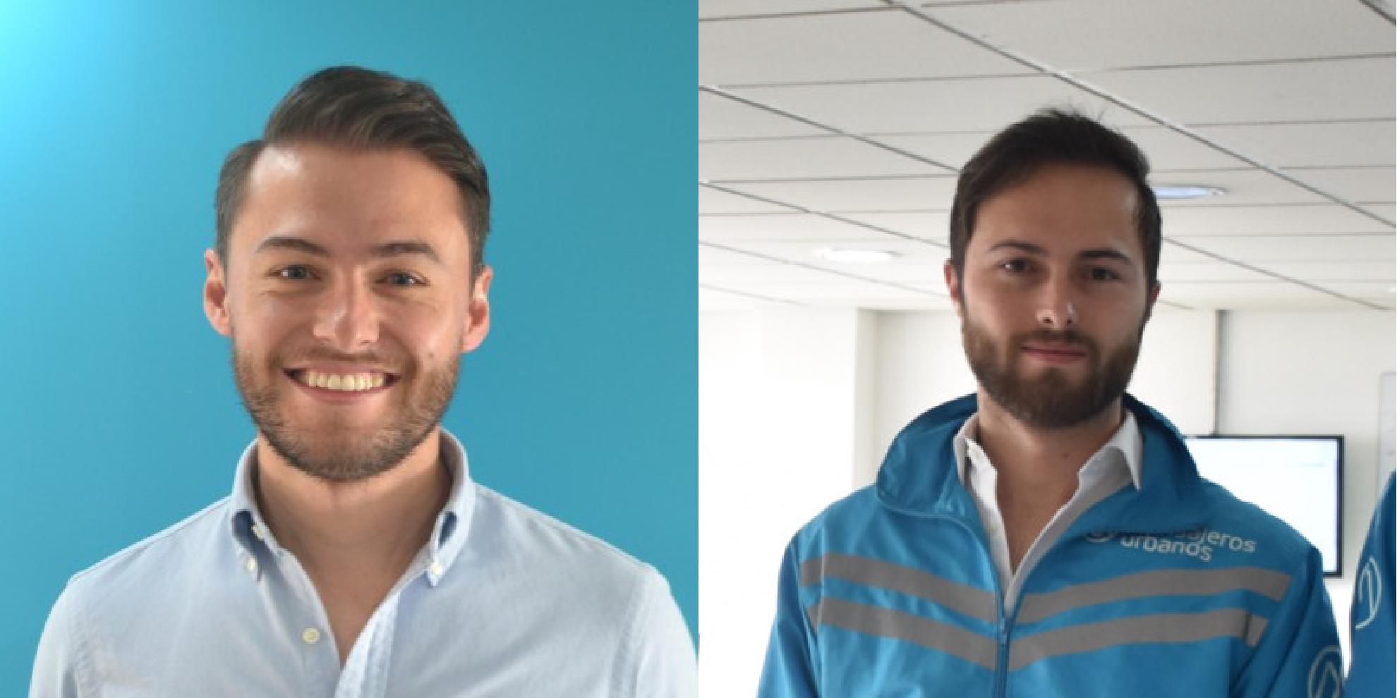 De izquierda a derecha, Santiago (CEO) y Juan Pablo Pineda (COO)