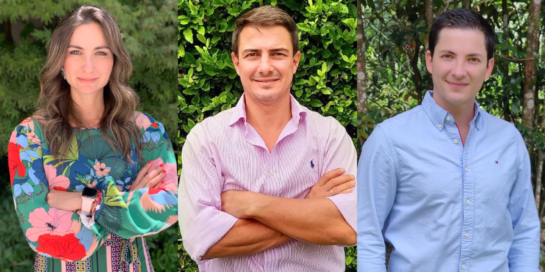 Tatiana, Andrés y Esteban Arcila, Emprendedores Endeavor y fundadores de SOS Asistencia.